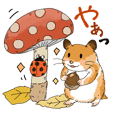 Squirrel and Hamster's Fall Stickers