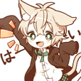 NEKOMIMI boy reaction sticker
