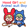 Hood Girl and Animal suit Boy(anime)