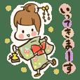 A kimono, sticker 3