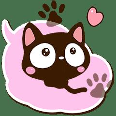 小さい黒猫【吹き出し】