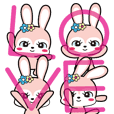 Rabbit retro animation Love version