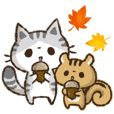 Kohama and Koeri autumn sticker