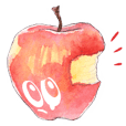 Apple of a watercolor painting