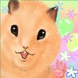 [Realistic cute] hamster sticker