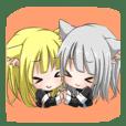 双子の猫耳魔法少女