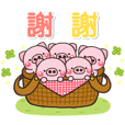 Little pig every day sticker