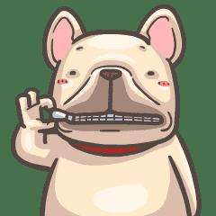 French Bulldog-PIGU VI Animated Stickers