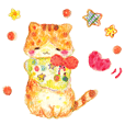 HAPPY YELLOW CAT ''NYANKO''