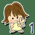 A girl sticker 1