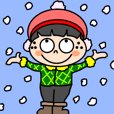 Cute freckles Koto-chan [winter]