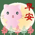 可愛粉粉貓-超實用日常用語更方便快速選用