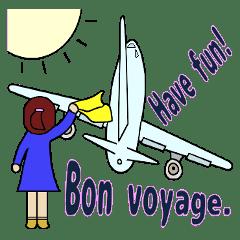 Bon voyage - LINE スタンプ | L...