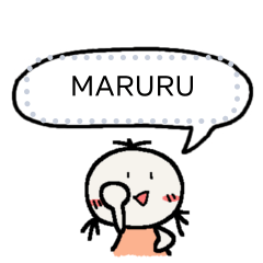 Maruru message sticker 2/TH
