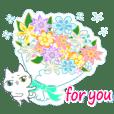 お祝い&おめでとう満載・白猫ちゃん(改)