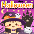 Halloween land stamp