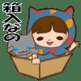 Boxed cat hood