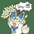Pop Kitsune masks Stickers