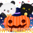 mohu panda3 halloween with black cat
