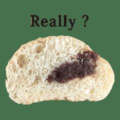 あんこ入りパン 半分 と 英語 English