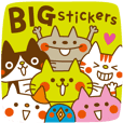 CATS & PEACE 28 -BIG stickers-