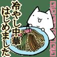 We began Hiyashi Chuka