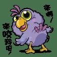 Q blue bird