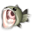 Bass Fishing Animation Sticker