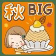 前髪短めな女の子の【秋】BIG