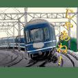 電車のスタンプ