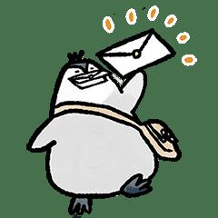 """お手紙ペンギン""""レタペン""""の陽気なスタンプ"""