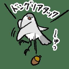 文鳥スタンプ11〜秋バージョン