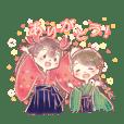 Japanese schoolgirl stamp