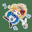白ウサギとアリスのスタンプ