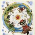 Back earth character Sticker of D. Araki