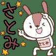 Rabbit with Satomi's bib