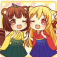 Tanuki & Fox girl