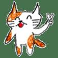白茶の猫ちゃんスタンプ