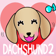 Animated! The Dachshund stickers 2