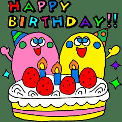 Happy Birthday Animation Sticker Line Stickers Line Store