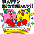 """HAPPY BIRTHDAY"" animation sticker"