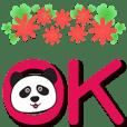 Cute panda-extra large characters