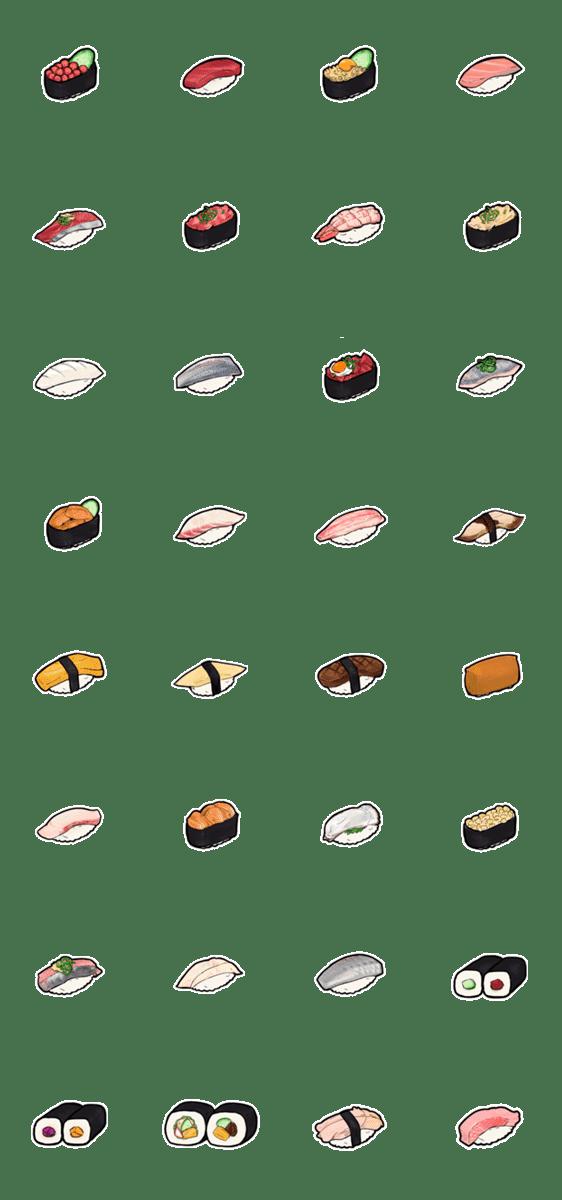 「ただの寿司のスタンプ」のLINEスタンプ一覧