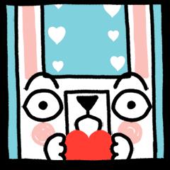 สติ๊กเกอร์ไลน์ Rabbit outside the window