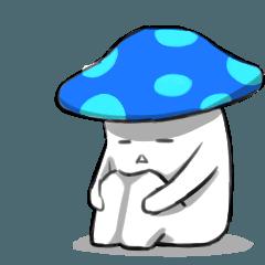 Bad mood blue mushroom