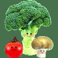 動く☆ゆるカワお野菜さん