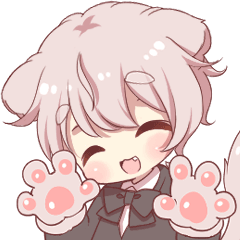 Cute cat ear boy which moves