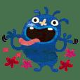 Blue little monster
