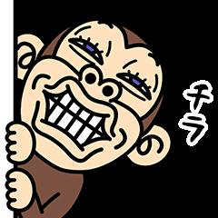 イラッと飛び出す★お猿さん