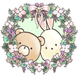 Cute bear and rabbit 9 by Torataro
